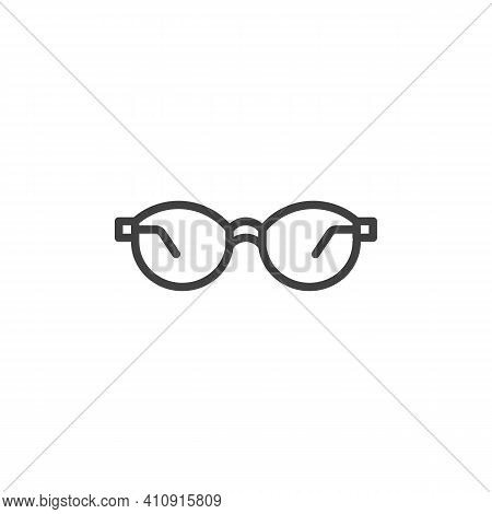 Fashion Spectacles Line Icon. Sunglasses Linear Style Sign For Mobile Concept And Web Design. Female