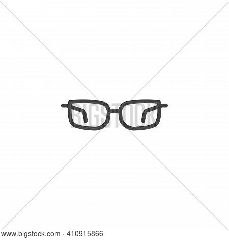 Stylish Glasses Line Icon. Spectacles Linear Style Sign For Mobile Concept And Web Design. Fashion E