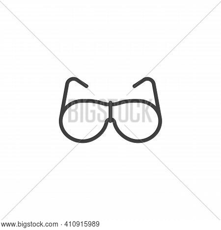 Stylish Glasses Line Icon. Spectacles Linear Style Sign For Mobile Concept And Web Design. Eyeglasse