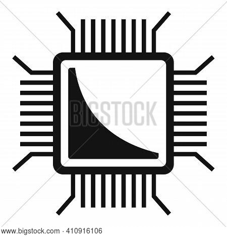 Nanotechnology Pc Microchip Icon. Simple Illustration Of Nanotechnology Pc Microchip Vector Icon For