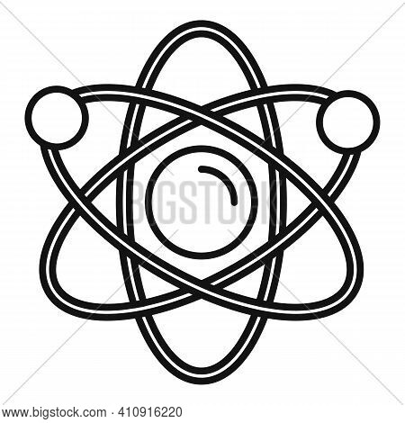 Nanotechnology Atom Icon. Outline Nanotechnology Atom Vector Icon For Web Design Isolated On White B