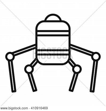 Nano Future Robot Icon. Outline Nano Future Robot Vector Icon For Web Design Isolated On White Backg
