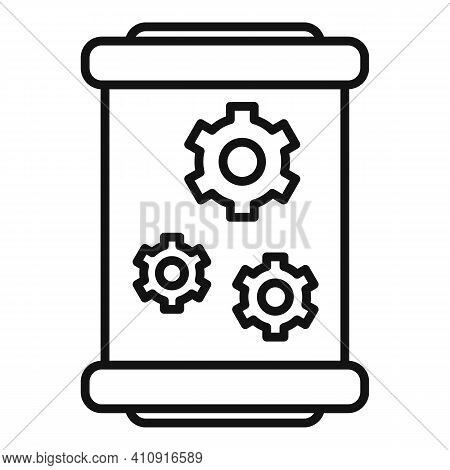 Cylinder Nanotechnology Icon. Outline Cylinder Nanotechnology Vector Icon For Web Design Isolated On