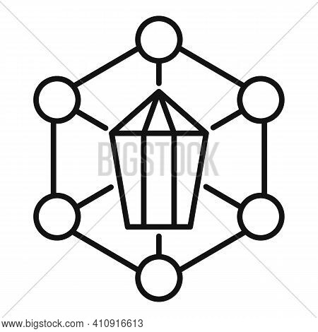 Nanotechnology Structure Icon. Outline Nanotechnology Structure Vector Icon For Web Design Isolated
