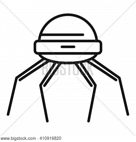 Nanotechnology Microchip Icon. Outline Nanotechnology Microchip Vector Icon For Web Design Isolated