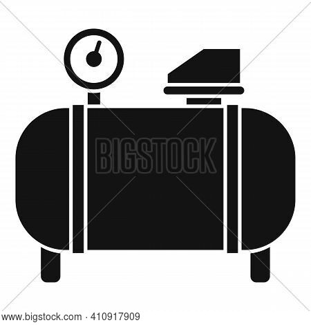 Generator Air Compressor Icon. Simple Illustration Of Generator Air Compressor Vector Icon For Web D
