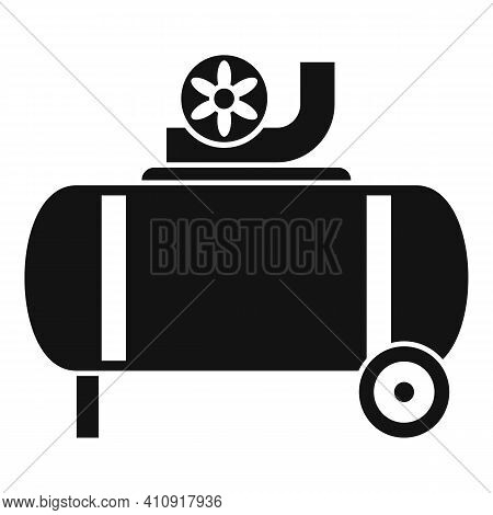 Power Air Compressor Icon. Simple Illustration Of Power Air Compressor Vector Icon For Web Design Is
