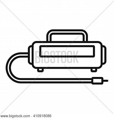 Unit Air Compressor Icon. Outline Unit Air Compressor Vector Icon For Web Design Isolated On White B