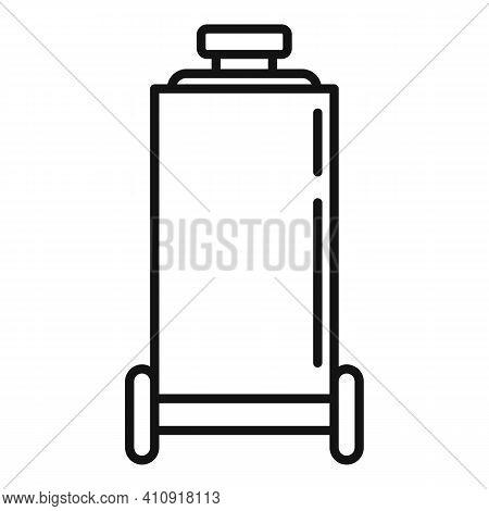 Pressure Air Compressor Icon. Outline Pressure Air Compressor Vector Icon For Web Design Isolated On