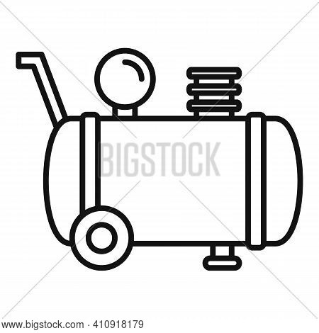 Cylinder Air Compressor Icon. Outline Cylinder Air Compressor Vector Icon For Web Design Isolated On