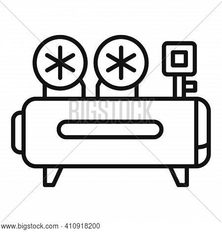 Airbrushing Air Compressor Icon. Outline Airbrushing Air Compressor Vector Icon For Web Design Isola