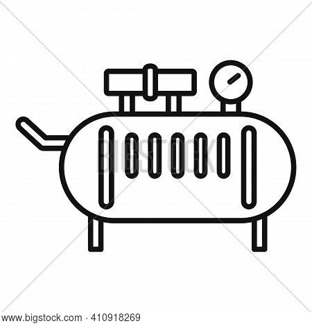Device Air Compressor Icon. Outline Device Air Compressor Vector Icon For Web Design Isolated On Whi