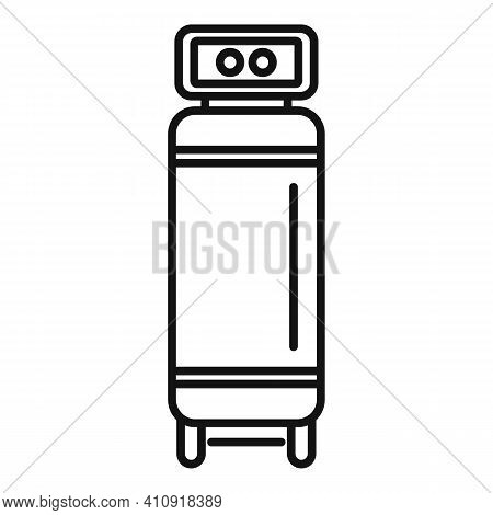 Motor Air Compressor Icon. Outline Motor Air Compressor Vector Icon For Web Design Isolated On White
