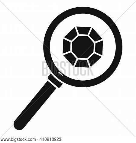 Jeweler Magnifier Icon. Simple Illustration Of Jeweler Magnifier Vector Icon For Web Design Isolated