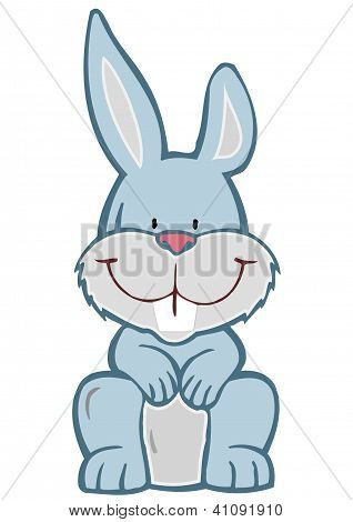 Vector Illustration A Cheerful Hare
