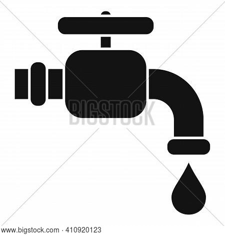 Water Tap Icon. Simple Illustration Of Water Tap Vector Icon For Web Design Isolated On White Backgr