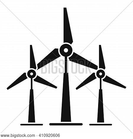 Wind Power Plant Icon. Simple Illustration Of Wind Power Plant Vector Icon For Web Design Isolated O