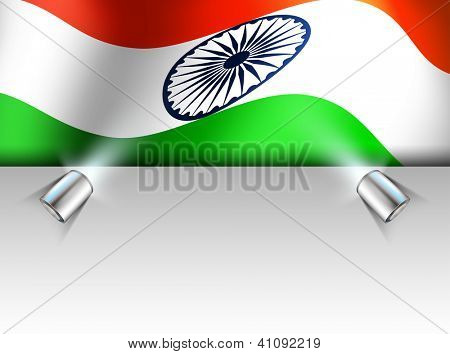 Presentation of Indian National Flag waving. EPS 10.