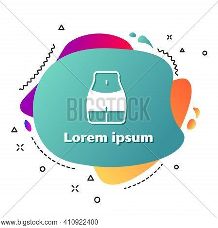 White Women Waist Icon Isolated On White Background. Abstract Banner With Liquid Shapes. Vector