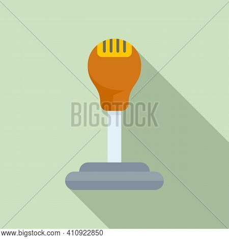 Car Gearbox Icon. Flat Illustration Of Car Gearbox Vector Icon For Web Design