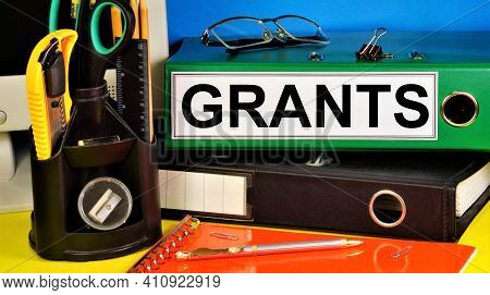 Grants. Text Label In The Folder. Gratuitous Subsidy To Organizations And Individuals For Conducting