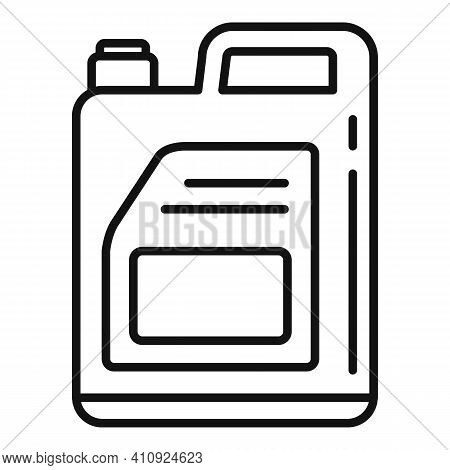 Car Oil Canister Icon. Outline Car Oil Canister Vector Icon For Web Design Isolated On White Backgro
