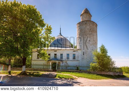 Khan's Mosque With A Minaret In Kasimov Town, Ryazan Region, Russia
