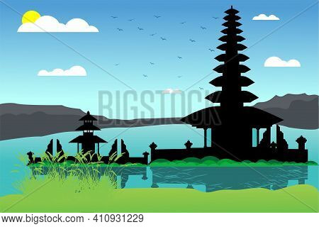 Beautiful View In Bedugul Bali Indonesia. This Bedugul Is Very Famous In The World Popular Tourist S