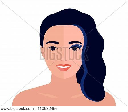 Face Of Woman With Cosmetic And Without Makeup, Transformation Appearance. One Half Face Of Beautifu
