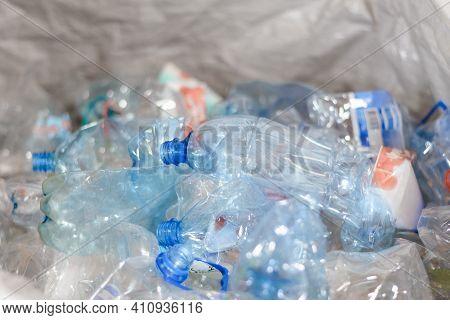 Sorting Of Plastic Bottles. Household Waste Sorting Station