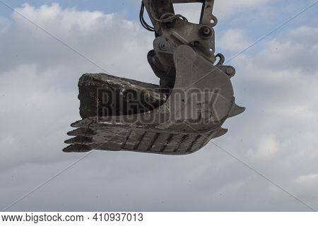 Earthworks With Excavator On Construction Site