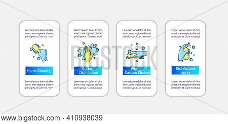 Surface Wiping Vector Infographics.housekeeper Hand Template Design Elements. Wet Cleaning With Spon
