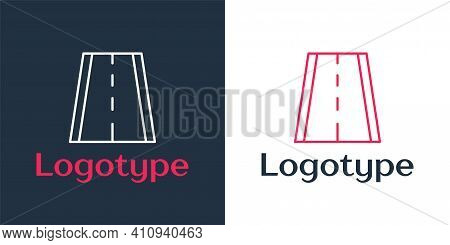 Logotype Line Special Bicycle Ride On The Bicycle Lane Icon Isolated On White Background. Logo Desig