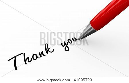 3D Pen Writing Thank You