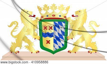 3d Hoeksche Waard Coat Of Arms (south Holland), Netherlands. 3d Illustration.