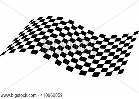 Race Flag Icon. Checkered Flag. Race Background. Racing Flag Vector Illustration