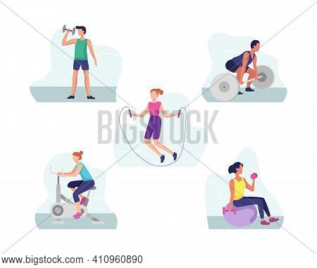 Fitness And Gym Sports Illustration Concept