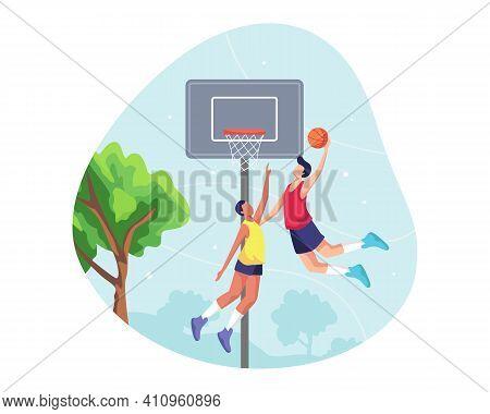 Basketball Sport Illustration Concept