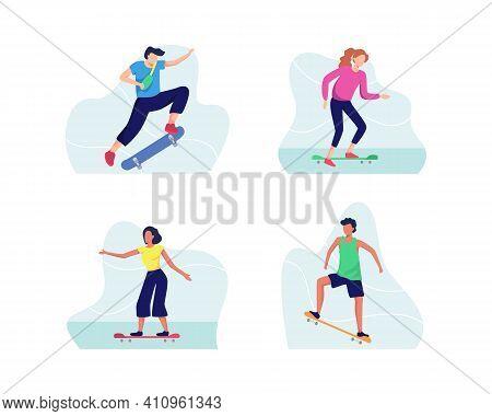 Skateboarding Illustration Concept