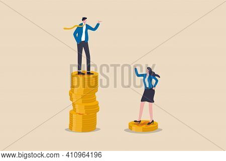 Gender Pay Gap, Inequality Between Man And Woman Wage, Salary Or Income, Issue About Gender Diversif