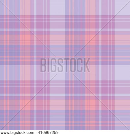 Seamless Pattern In Violet, Lilac, Purple And Pink Colors For Plaid, Fabric, Textile, Clothes, Table