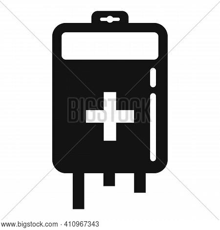 Blood Bag Icon. Simple Illustration Of Blood Bag Vector Icon For Web Design Isolated On White Backgr