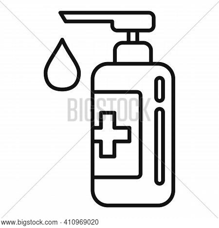 Medical Soap Dispenser Icon. Outline Medical Soap Dispenser Vector Icon For Web Design Isolated On W