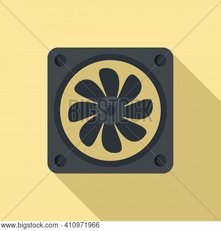 Ventilation Fan Icon. Flat Illustration Of Ventilation Fan Vector Icon For Web Design