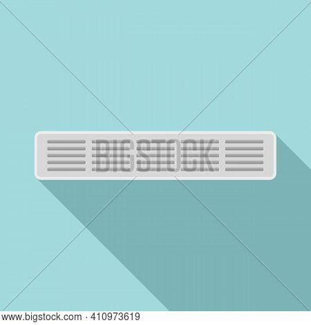 Ventilation Long Frame Icon. Flat Illustration Of Ventilation Long Frame Vector Icon For Web Design