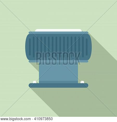 Ventilation Filter Icon. Flat Illustration Of Ventilation Filter Vector Icon For Web Design