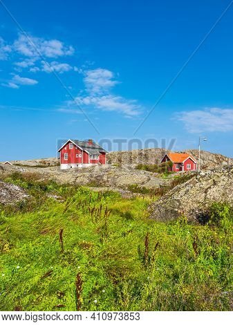 View To The Weather Islands Near Fjaellbacka In Sweden.