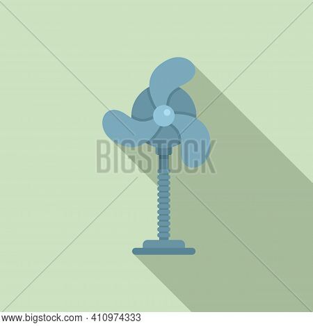 Room Fan Icon. Flat Illustration Of Room Fan Vector Icon For Web Design