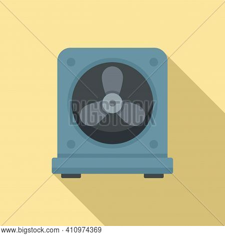 Thermostat Fan Icon. Flat Illustration Of Thermostat Fan Vector Icon For Web Design