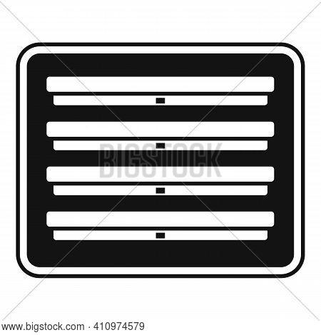 Ventilation Frame Icon. Simple Illustration Of Ventilation Frame Vector Icon For Web Design Isolated